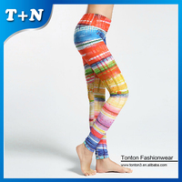 sublimation printing brand name sexy fitness leggings
