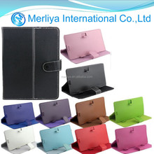 Universal PU Leather Flip tablet PC cover for iphone and Samsung tablet PC
