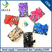 Wholesale Small Packaging Trinket Cardboard Jewelry Box