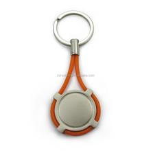 Brinde promocional personalizado marca de borracha cabo de metal chaveiro