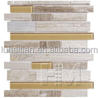 2014 new trend glass mosaic tiles,crackle glass mosaic tile,linear glass mosaic tiles