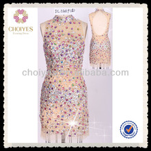 DL50459 distribute international brand chinese handicrafts arabic evening dress nude crystal dress