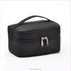Black toiletry bag for men and women make up bag