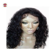 Beautiful long hair curly african american full lace wigs with baby hair