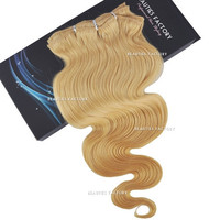 "Beauties Factory 24"" Clip-in Body Wave Remy Human Hair Extensions 100g #613 Bleach Blonde"