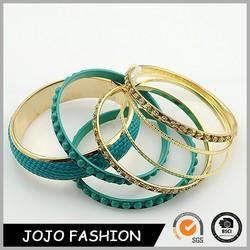 Fashion bangles 2015 rubber band for bracelet gold bangle statement for girls