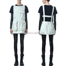 Young Women Clothes Designs/Classic Cotton Twin Pocket Shift Short Dress