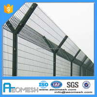 Made In Guangdong AEOMESH High Quality airport prison barbed wire fence