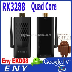 2015 High Quality ENY EKD08 Ultra HD 4k H.265 Android Stick RK3288 Android 4.4.2 2GB 8GB Android TV Box Remote Control