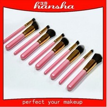 Pink Powder Brush for Blush/Eye Shadow/Lip Gloss/Foundation OEM Order and Private Label