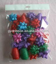 """2"""" star ribbon bow, 13 loops metallic ribbon bow for everyday gift packing"""