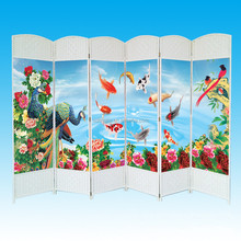 6 Panels Hand-woven Paper Rope Room Dividers Partition Home Decor