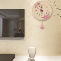 home garden Fashion 2015 round shape clock spring 12 inch antique Chinese style outdoor sweeping quiet wall clock movement