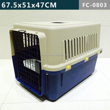 Favorite Foldable Dog Crate with Plastic crate Tray/Folding Pet Cage with Plastic