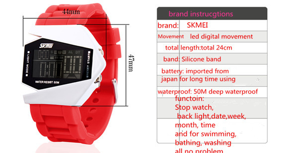 led silicone watch instructions