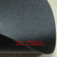 Fire Retardant Cold Resistant Slip-Not Dots Black PVC Coated Polyester Fabric