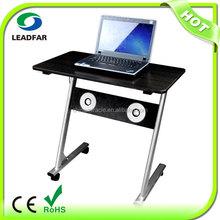 Multifunctional multimedia MDF laptop table on wheels with fan