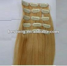 Humano remy clip- en la extensión del pelo del pelo pieza