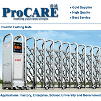 Electric stainless steel barrier automatic retractable accordion gate