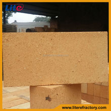 High Temperature Fire Resistant Fireproof Fireclay Material burned refractory brick for fireplace/furnace/stove