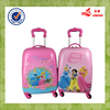 Hot Sale Pink Color Match Color Handle Kids School Bag Waterproof ABS+PC Egg Luggage Trolley Bag