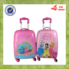 Hot Sale Pink Color Match Color Handle Kids School Bag Waterproof ABS+PC Egg Luggage Trolley Bag