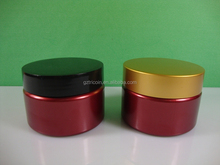 Container Plastic PET Red 4 Ounce Cosmetic Jars