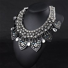 Crystal necklace full leaf necklace counter genuine mixed batch