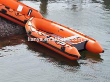 Factory direct supply 14 foot rowing boat Liya aluminum floor PVC boat