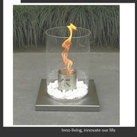 fireplace entertainment center, round ethanol burner