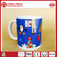 2015 Christmas customized logo snowman ceramic coffee mug