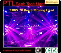 dmx512 230W 7R beam moving head light lyre gobo led