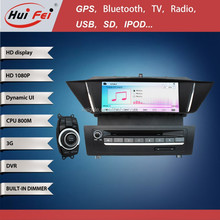 800*480 Pixel 9 Inch Touch Screen Car DVD With GPS For BMW X1 Windows Platform HuiFei Brand