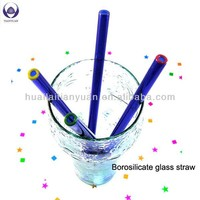 Food grade lead free Eco-Friendly colored drinking straw glasses with heat resistance