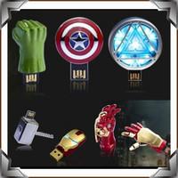 Low Price Free Sample Full Capacity Iron Man 2GB-64GB USB flash drive Ironman Hand pendrives