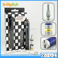 New variable voltage ecig 16.5mm diameter evod twist 3 m16 ce5 plus with factory price