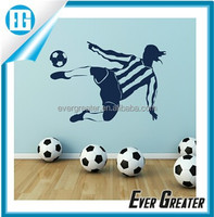 Custom plastic stickers label beer labels private labels football wall stickers