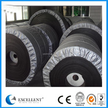 Heat resistant endless rubber conveyor belt with ep canvas