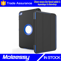 New arrival !!! smart leather case for ipad mini 4 with auto-sleep function case