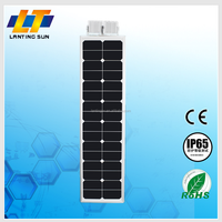 High power led solar street light all in one with battery, solar panel and sensor