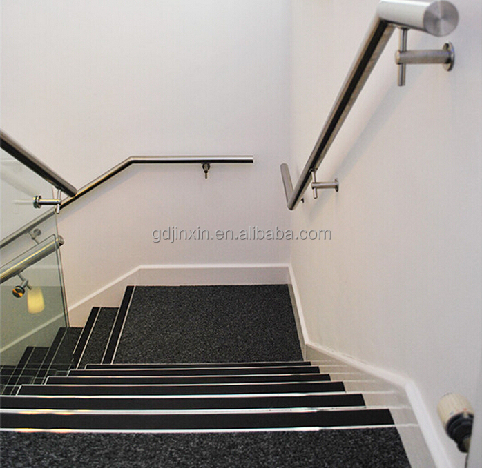 Stainless Steel Metal Wall Mounted Staircases Handrail Designs For Indoor And Outdoor Stairs