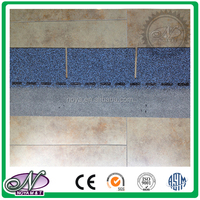 Cheap building materials coloured glaze single layer asphalt shingles with low price