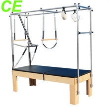 A+ Germanic beech and stainless steel trapeze table(YT-PTT)