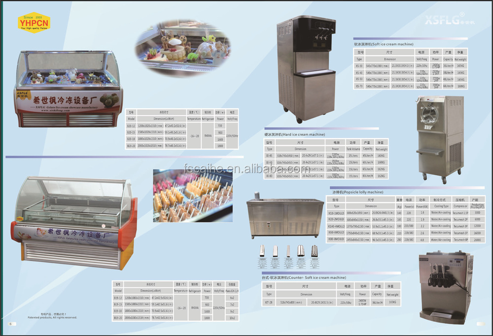 Italian ice showcase refrigerator equipment machine for popsicle.jpg