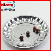 Caitang Nicety design different sizes Wholesale Indian Stainless Steel restaurant dinner plates