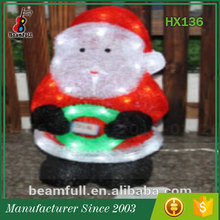 Made in China Most popular Cheap santa Acrylic christmas light decoration