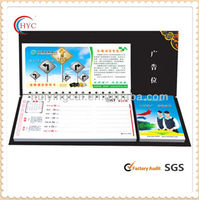 all kinds of paper cardboard desk calendar with note pad