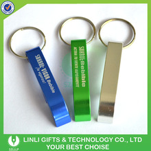 Customized Logo Promotion Aluminium Bottle Opener Keyring