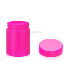 16oz/500ml red uv gloss HDPE plastic pill bottle with plastic covers