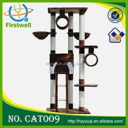 Customize Luxury Wood Style Cat House,Cat Trees,Cat Tree 2015 top selling cat toy